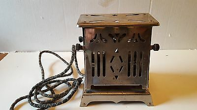 Vntge  ANTIQUE DOUBLE SIDED CHROME ELECTRIC TOASTER