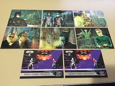 Batman Forever - Animaction - Chase Trading Card LOT of 8 -1995 Fleer ULTRA - NM