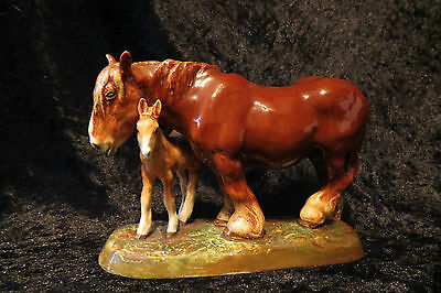 Royal Doulton Shire Mare and Foal HN2522