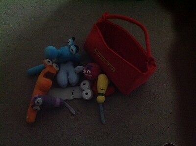 """Disney Store Exclusive Handy Manny Tool Kit Soft Plush Toy Approx 10"""""""