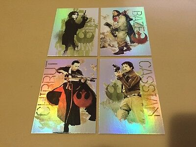 Star Wars Rogue One Mission Briefing - Foil Chase Card LOT of 4 - 2016 - NM