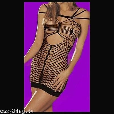SIZZLING STOCKING STYLE LINGERIE DRESS -As Shown- Choose size 6-8-10-12