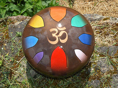 AM Drum - custom made CHAKRA reiki therapy scale 432Hz hank steel tongue handpan