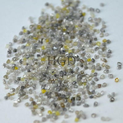100% NATURAL Loose Rough Raw Uncut Rare Real Diamonds Fancy Mixed 1.10mm 25 crts