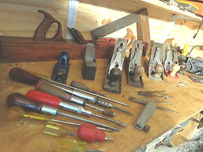 woodworking vintage planes Record  Stanley tool lot