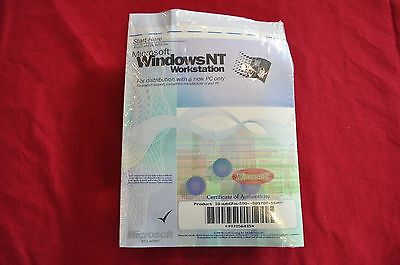 Microsoft NT Workstation Ver 4  1-2 Processor Edition  BRAND NEW STILL SEALED