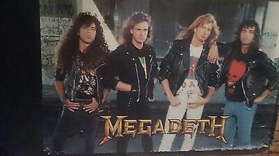 Megadeth four guys standing  poster