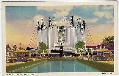 CHICAGO - Century of Progess Exhibition - Travel Building - 1934 used postcard