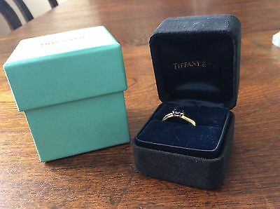 Tiffany & Co 18ct Etoile Sapphire Ring Size M1/2