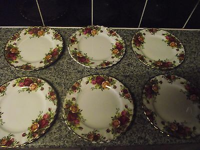 """6 x ROYAL ALBERT OLD COUNTRY ROSES TEA / SIDE PLATES 6.5"""""""
