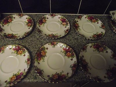 Royal Albert Old Country Roses - 6 x 16 cm Saucers - Tea Cup Size
