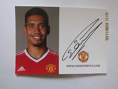 Chris Smalling , Manchester  United,  Hand  Signed  Club  Card,