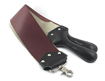 Leather + Linen Razor Strop Straight Cut Throat, by LEZA