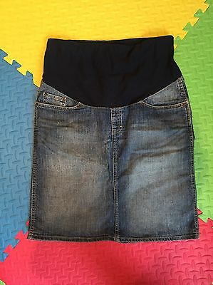 H&M Maternity Over The Bump Denim Skirt Size L