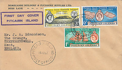 M 134 Pitcairn Island November 1961 'commercial' First Day Cover