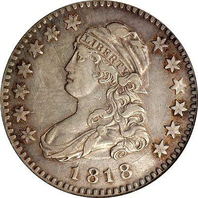 NGC 1818 Capped Bust Quarter XF 45