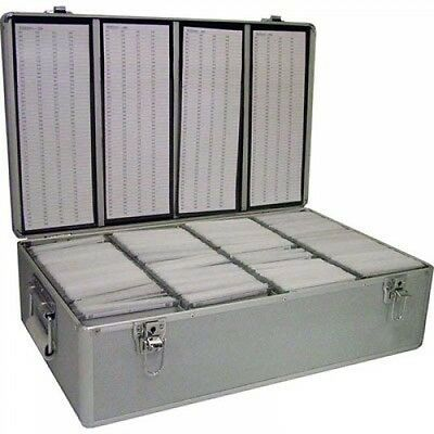 Neo Aluminium CD Or DVD Storage Box With Sleeves Holds Upto 800 Disks