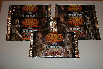 Star Wars Force Attax Series 4 Trading Cards 5 Packs SEALED-///