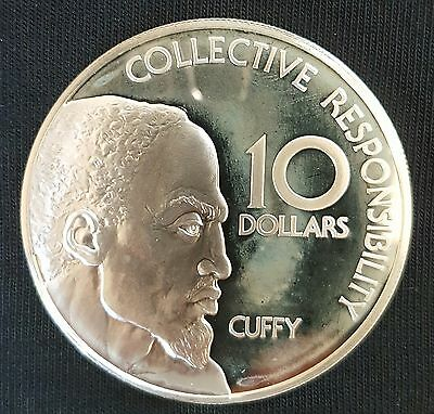 1976 Guyana $10 PROOF Silver Coin..UNCIRCULATED...