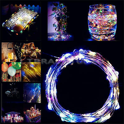 3 Way USB Connector 100LED Copper Wire Xmas Wedding Party String Fairy Light 10M