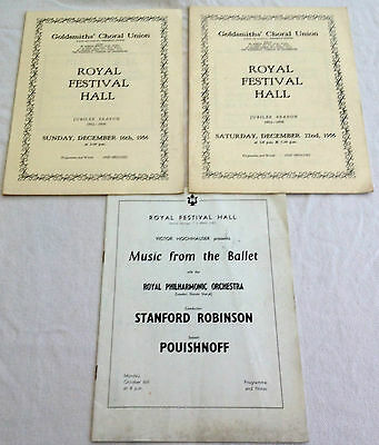 1956 Royal Festival Hall Programmes & One Other
