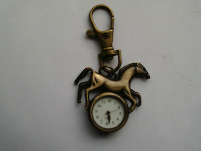 horse keyring watch