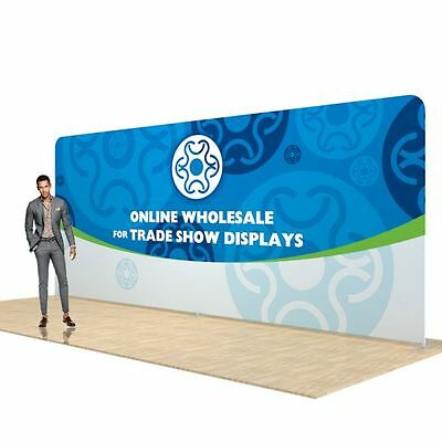 20ft Straight Heat Transfer Fabric Tension Fabric Wall Pop-Up  Booth Displays