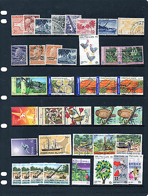 121 Christmas Islands Stamps.