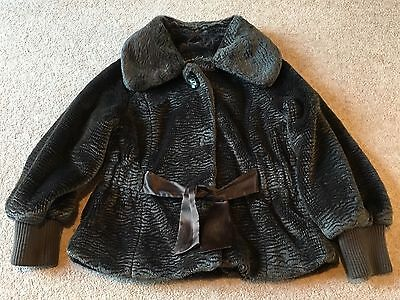 Girls Gorgeous Next Signature Jacket Coat Faux Fur  7-8 Years Old