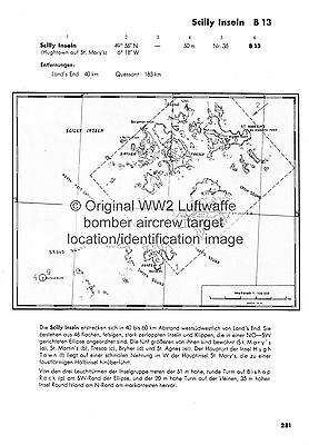SCILLY ISLES WW2 local history ORIGINAL LUFTWAFFE BOMBING DOCUMENT