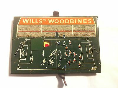 Wills Woodbine Pre War Football Advertising Game / cigarette /  tin /