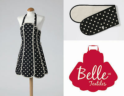 """Belle Textiles """"Simone"""" - Apron Oven Gloves Tea Cosy Tea Towel - Made in the UK"""