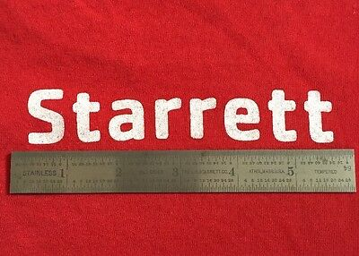 """Starrett No. 1604R Stainless 6"""" Rule Tempered Tool"""
