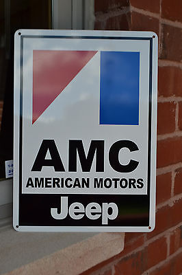 "AMC JEEP American Motors Racing Sign Service Mechanic 10""x14"" Garage SIGN"