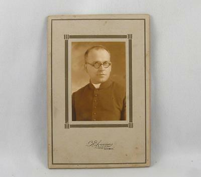 Antique Cabinet Photo Of A Priest By Livernois Quebec