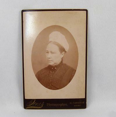 Antique Cabinet Photo Of A Nun ?  By Jones Quebec