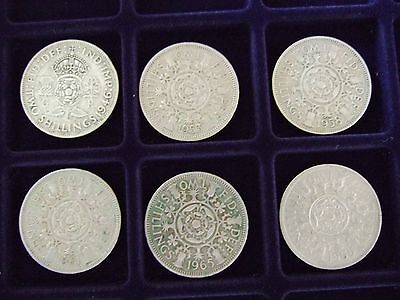 GB 2 Shilling/Florin Coins.  Circulated Condition Collection Gap-Fillers.