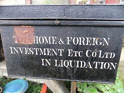 Vintage Deed Box exquisite writing 'Home and foreign investment in liquidation'