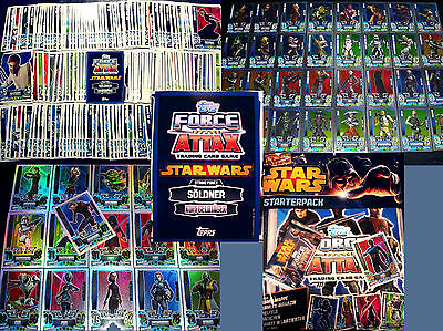 Topps FORCE ATTAX Star Wars CLONE WARS Serie 4 - SET+KARTEN Trading Cards