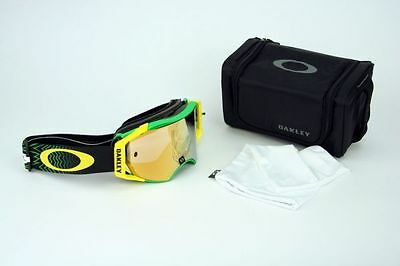 Oakley Airbrake MX Shockwave Green Yellow 24K Iridium OO7046-36 Enduro DH NEU