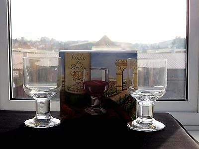 TWO VINTAGE DARTINGTON COMPLEAT IMBIBER PORT GLASSES - Boxed