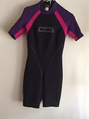 bare brand shorty wetsuit 3mm woman's zip up back