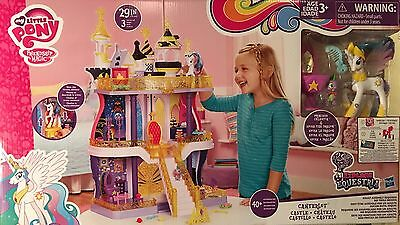 New My Little Pony Canterlot Castle 3 Stories 40+ Accessories Celestia & Spike