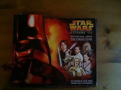 Star Wars Episode III Official 2005 Pin Badge Collection