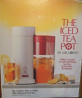The Iced Tea Pot By Mr. Coffee 2 Quart Model TM1 NEW IN Box With Instructions