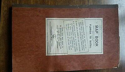Fabulous Aaf Flight Maps  1944  Map Book Florida To Brazil - From Pinel Estate