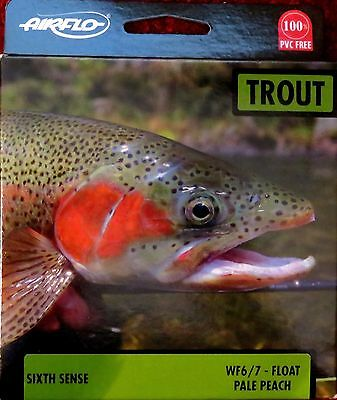 Airflo Trout 6th Sense Floating Fly Fishing Line WF6/7, Brand New