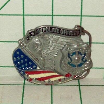 New Pewter Police Officer An American Hero Belt Buckle