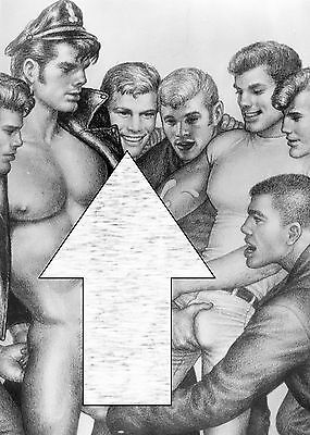 TOM OF FINLAND  .(  WoW  ) Gay art *** MAGNET poster  30 cm