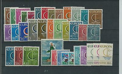 Europa 1966 Year Sets Pristne  Mnh 37 Vals